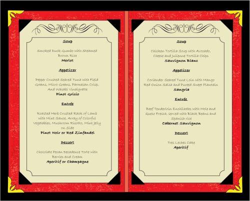 Im menu với chất liệu giấy