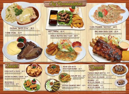 In menu giấy nhà hàng