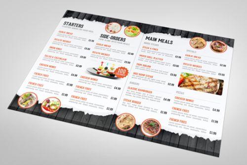In menu nhựa cao cấp